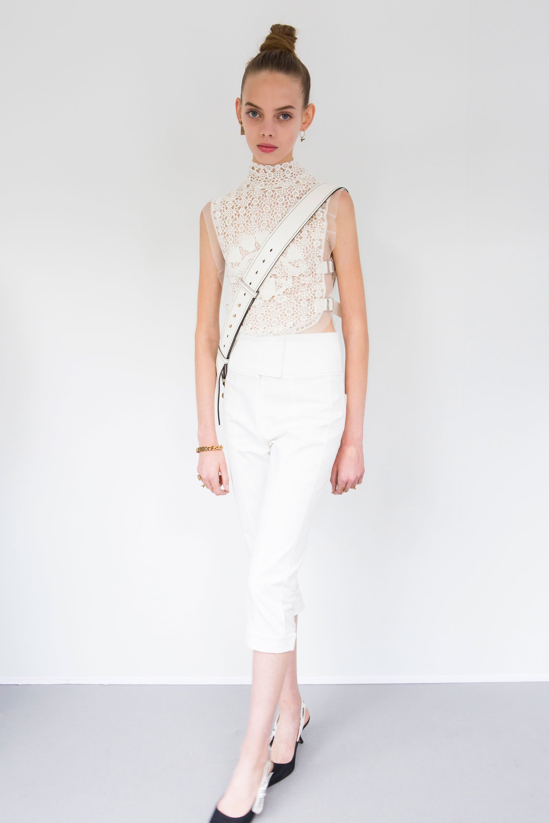 Mariana Zaragoza walking for Christian Dior Spring 2017