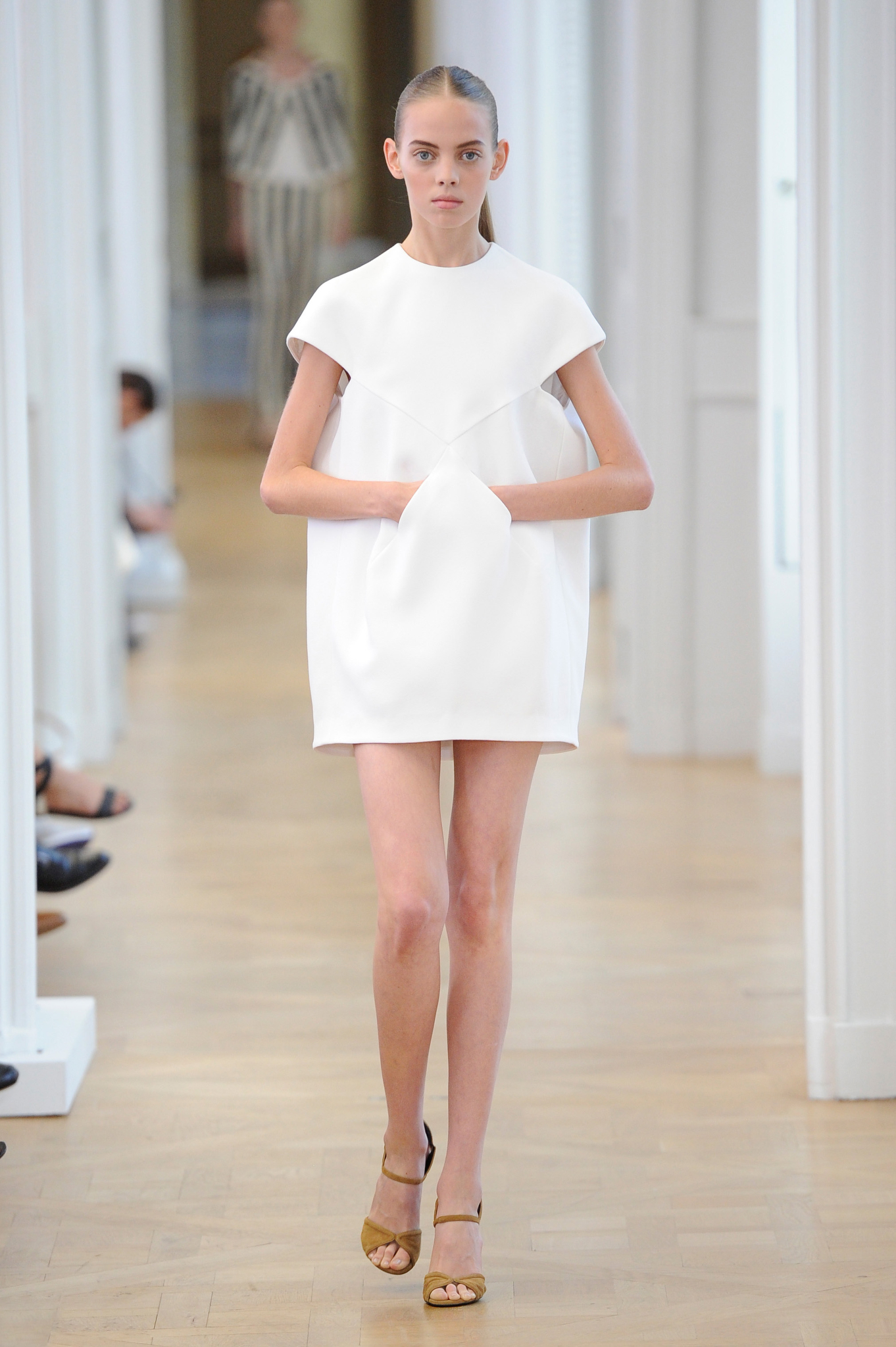 Mariana Zaragoza walking for Courrèges Spring 2017