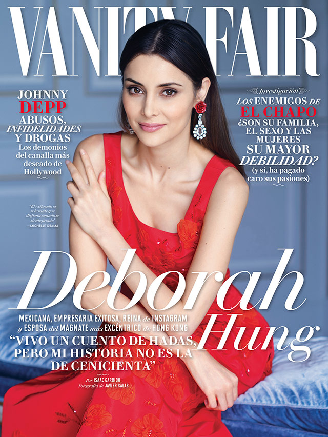 Deborah Valdez covers the october issue of Vanity Fair México