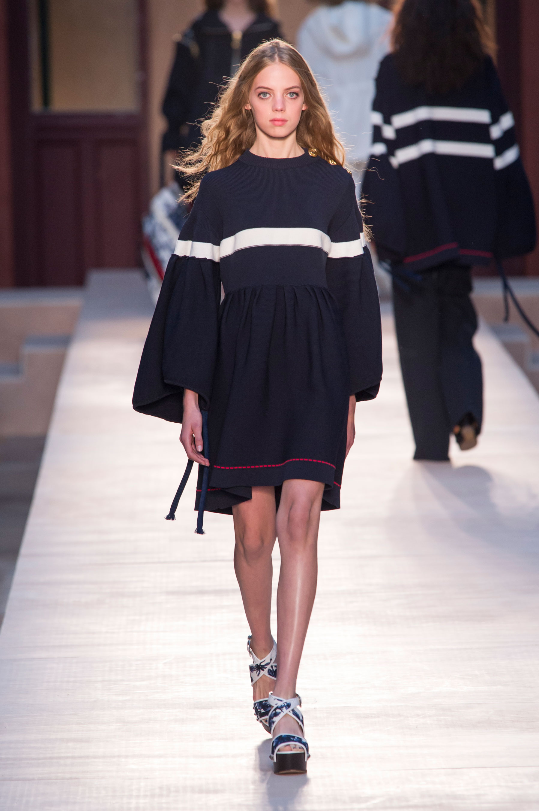 Mariana Zaragoza walking for Sonia Rykiel Spring 2017