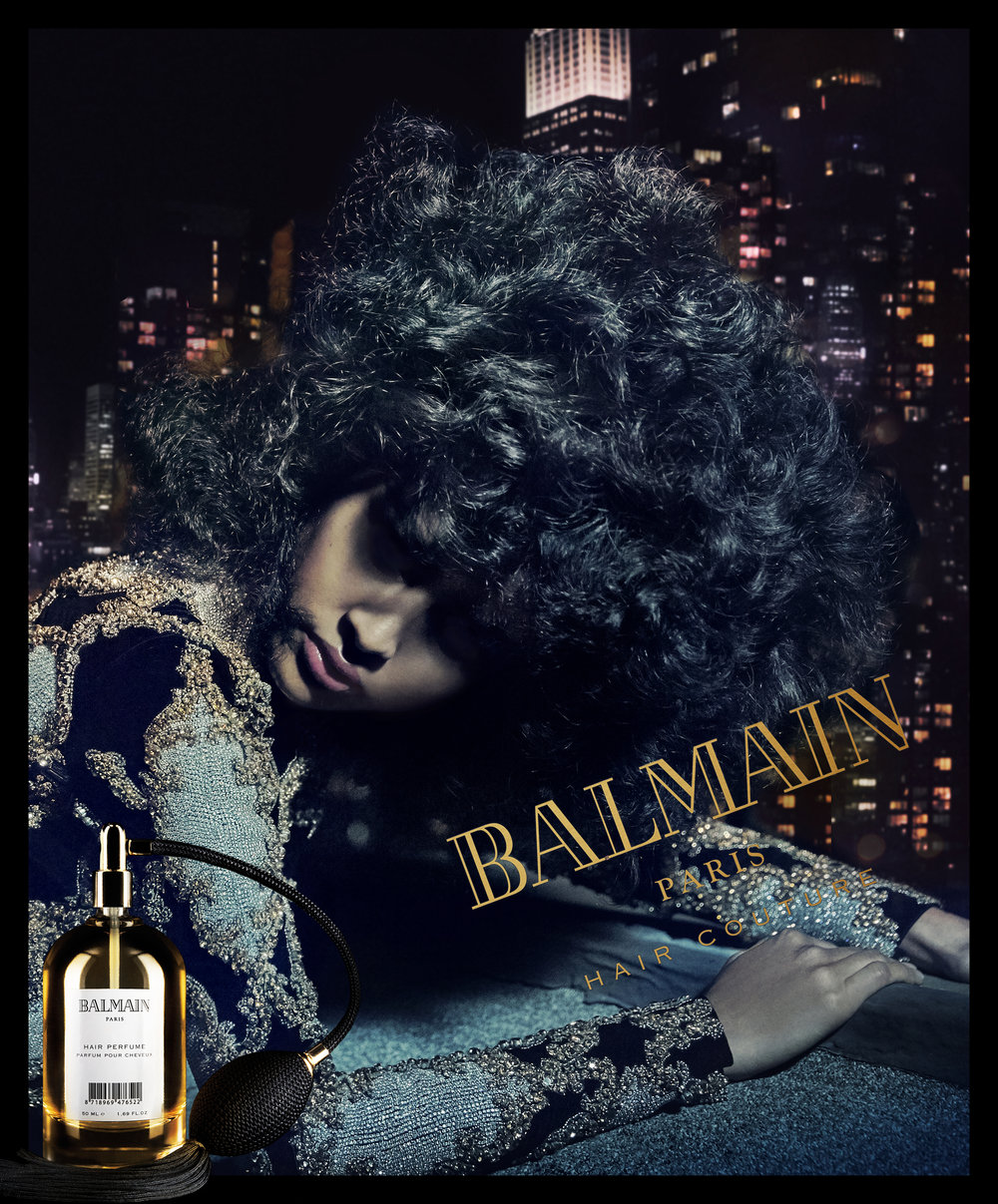 Luz Pavon for Balmain Hair Fragance 2017