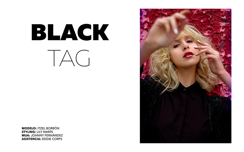 Itzel Silva in Black Tag by Hashtag Studio