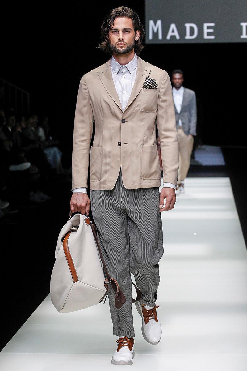 Jonathan Valdez for Giorgio Armani Spring 2018 in Milan Menswear