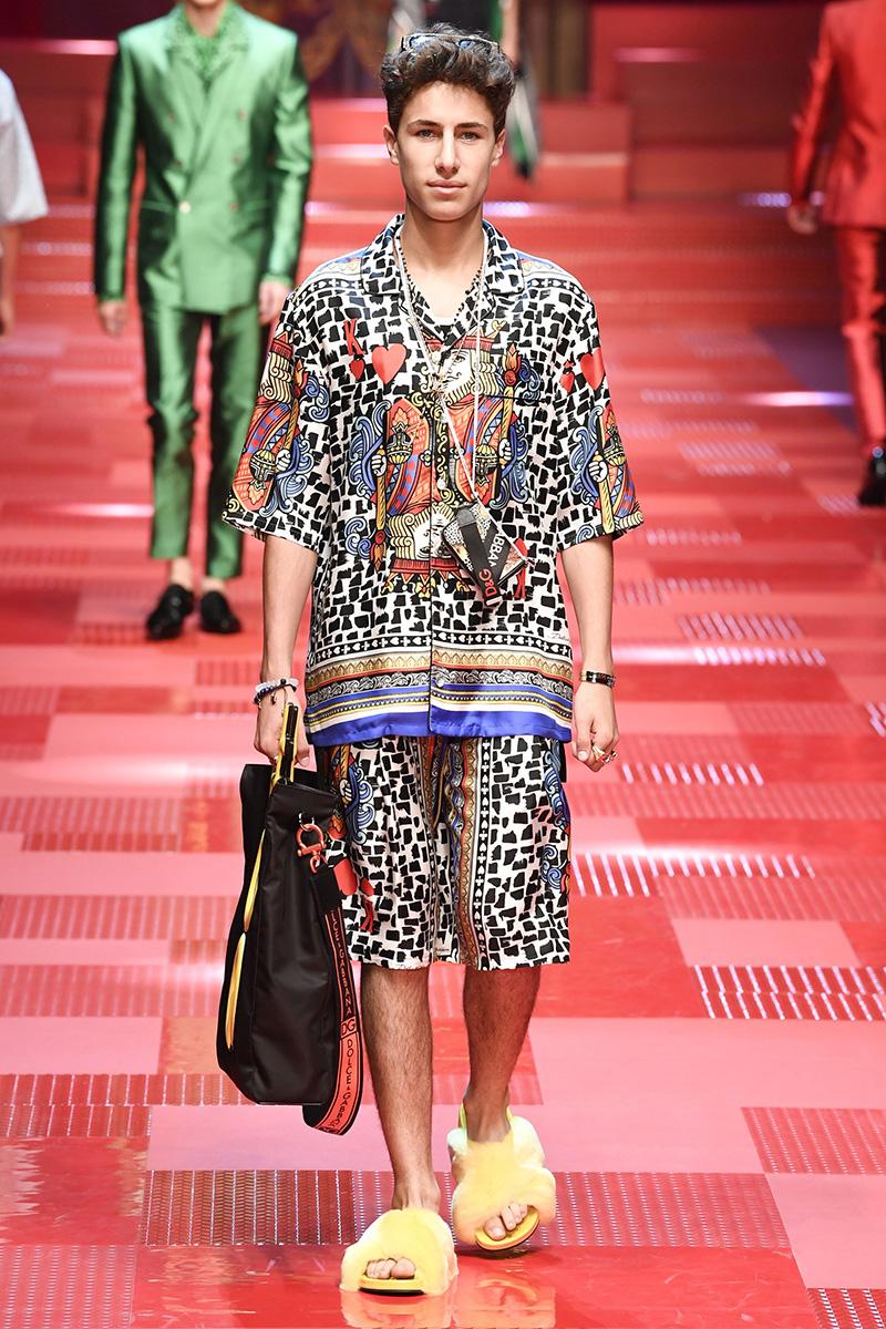Juanpa Zurita for Dolce & Gabbana Spring 2018 Milan Menswear