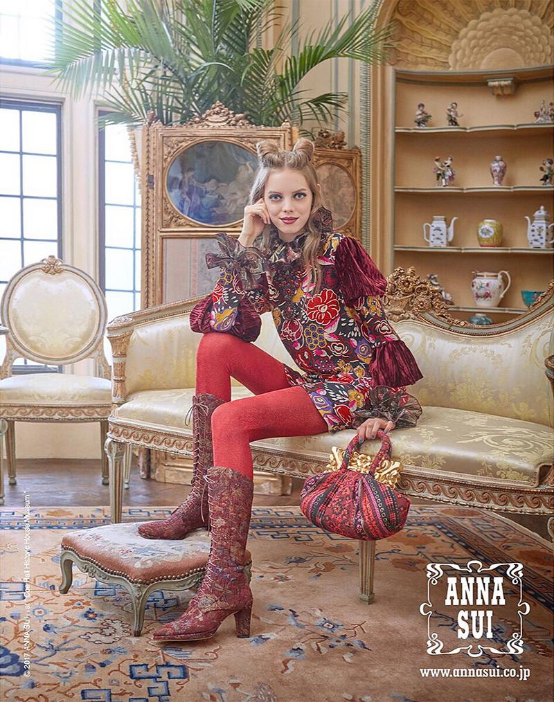 Mariana Zaragoza for Anna Sui Fall 2017