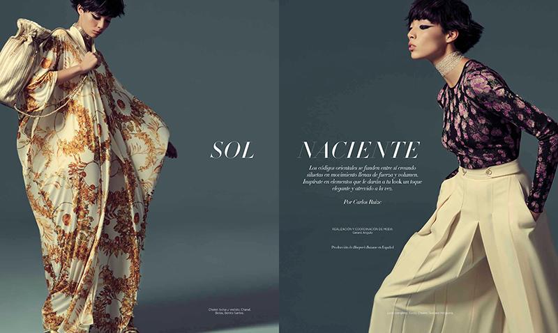 Daniela Dominique for Harper's Bazaar Mexico November 2017
