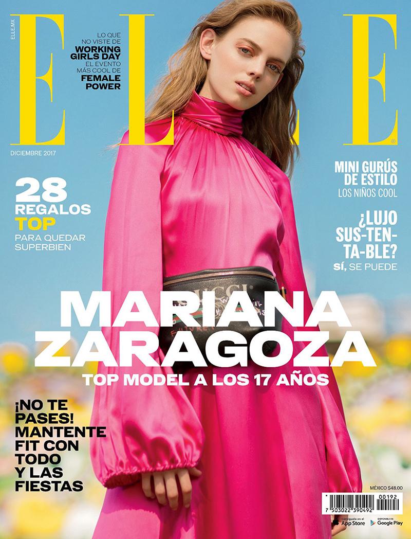 Mariana Zaragoza covers Vogue Mexico December 2017