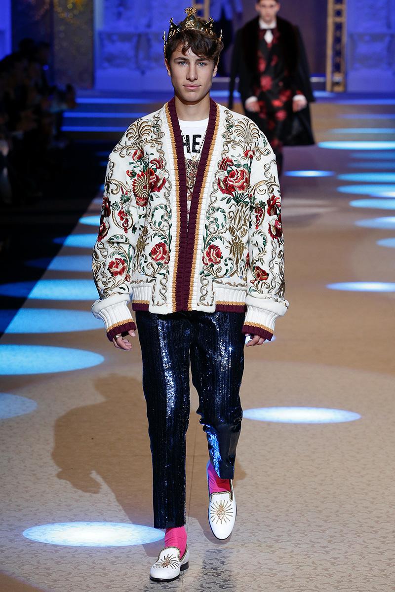 Jose Pablo Minor for Dolce & Gabbana Fall 2018